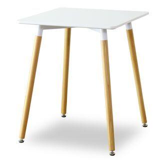 ダイニングテーブル【エッジ60×60/ホワイト色】ダイニング テ...