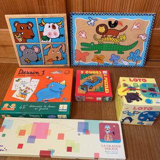 DJECO 6点セット 知育玩具 木製パズルなど