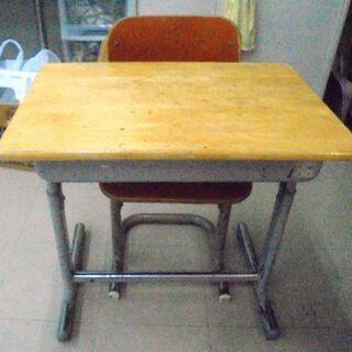 レトロ 学校の机・椅子セット コクヨ 勉強机