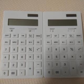100均一で300円〜500円で購入した電卓