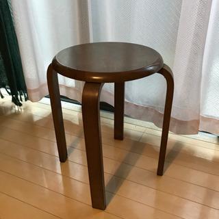 丸椅子 木材
