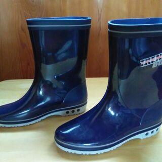 「長靴 22センチ」 アキレス トレンチボウイ 色ネイビー 美品