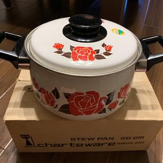 昭和レトロなホーロー鍋