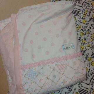 シングル 掛け布団カバー ピンク 花柄 あげます!