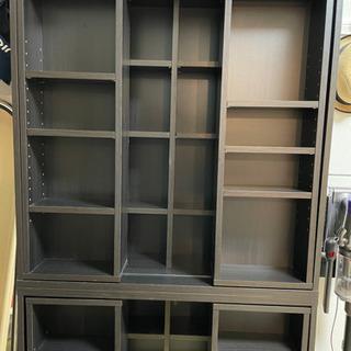 【ネット決済】大容量!スライド式本棚