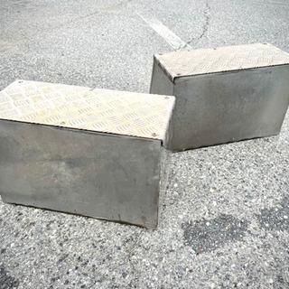 【ネット決済】▼トラック、トレーラー用ステンレス製工具箱 小