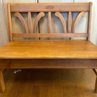 カリモク ベンチ? 収納付き 椅子 ウッドチェア
