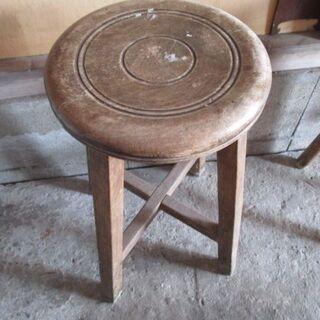 丸椅子 昭和レトロ 直径24.5㎝ 高さ46.5㎝