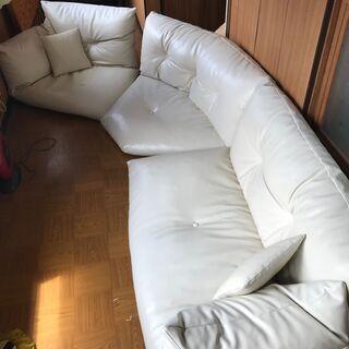 座椅子 ソファ(白)