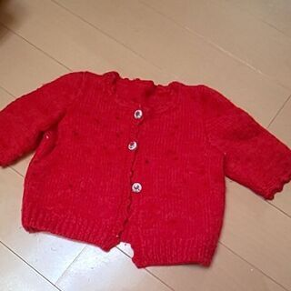 ベビー 手編みカーディガン 昭和レトロ☆あげます