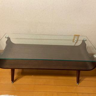 【ネット決済】ニトリ ガラステーブル センターテーブル ダークブラウン