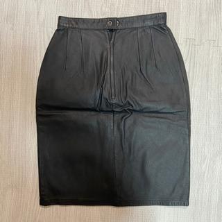 【美品】レザースカート黒色