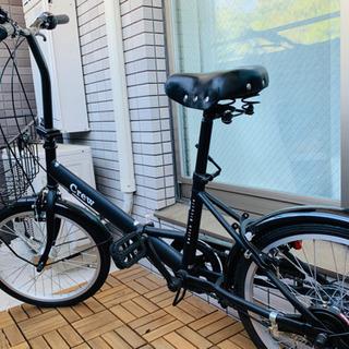 折りたたみ自転車(6段階ギア付き)