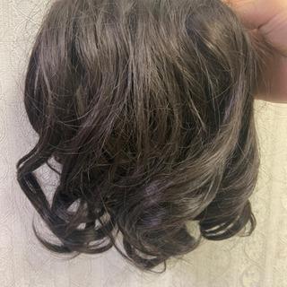 ◆ 付け毛 茶色カール◆