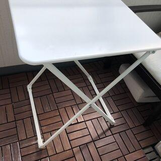 IKEA 屋外テーブル スチール製 折り畳み
