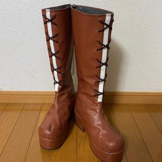 ブラウン 茶色 ロングブーツ
