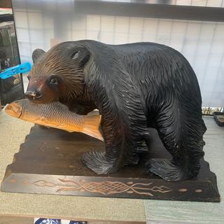 熊の木彫り アンティーク 置物