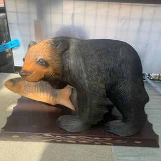 熊の木彫り 置物 ビンテージ アンティーク