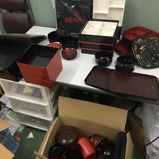 漆器 器 大量 漆 和食器 未使用や中古など混雑してます。