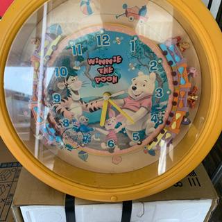 ディズニープーさんの壁掛け時計