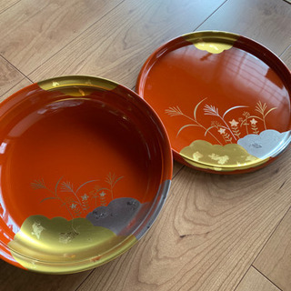 菓子鉢 盛り鉢 盆 セット 合成漆器 山中漆器