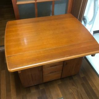ダイニングテーブル 食卓 コンセント付き 横幅90×奥行き75×...