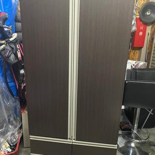 ニトリ ワードローブ クローゼット 洋服タンス 鏡付き ブラウン