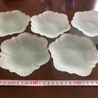 ガラス製デザート皿 5枚セット