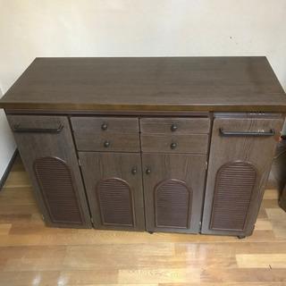 キッチンカウンターボード(キャスター付き) W1155 D…