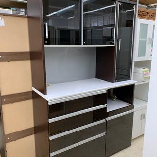 レンジボード ブラック 食器棚 収納棚 食器収納 レンジ台 キッ...