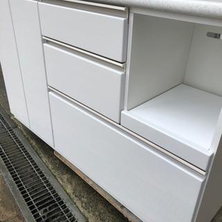 【ネット決済】キッチンボード ニトリ アルミナ2 白