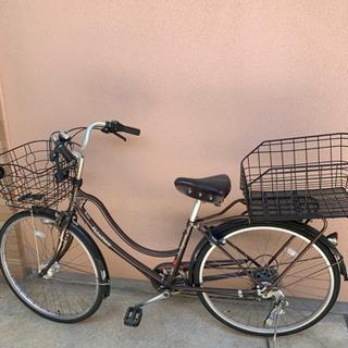 引取り先決まりました。6段変速 自転車 茶色 かご付き