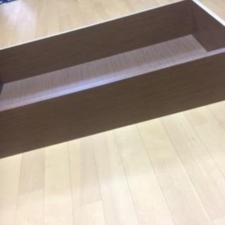 木造ベッドの引き出し部分