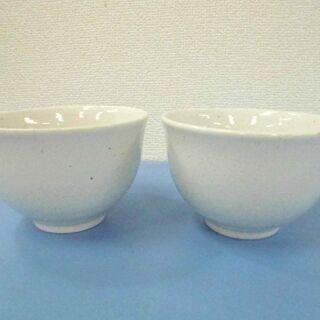 JM11107)素朴なデザインの茶碗 2客セット 直径:約11....