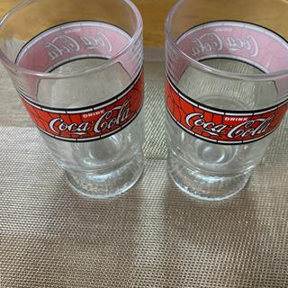 コカコーラ レトロ グラス2個セット