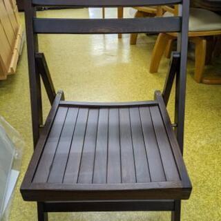 ★木製折畳み式椅子 チェア こげ茶色