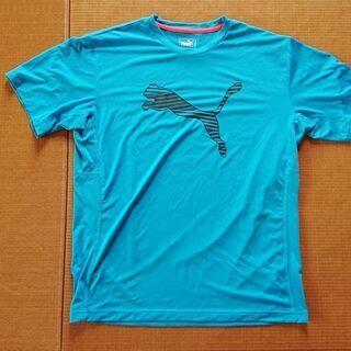PUMA★プーマ・水色スポーツTシャツ/メンズXLサイズ