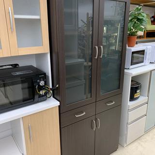 食器棚 ブラウン 収納棚 食器収納 キッチン家具