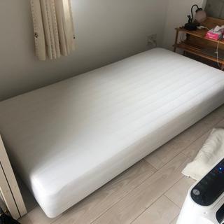 【差し上げます】脚付きマットレスベッド(シングル)