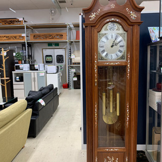 ホールクロック 高さ213cm 時計 置き時計 柱時計 振…