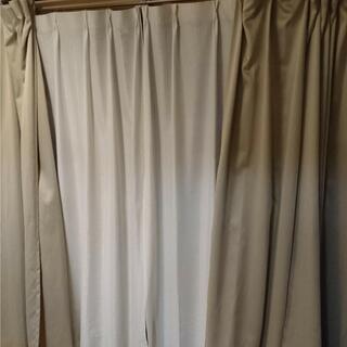 大窓防炎カーテンと小窓カーテンセット レースカーテン付