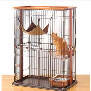 ボンビアルコン 猫用室内サークル ウッドワンサークル キャット2段