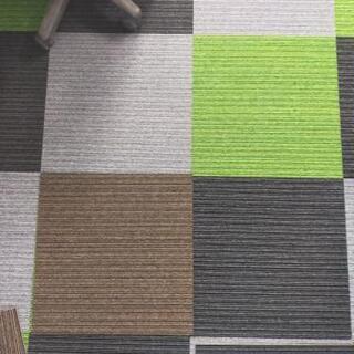 【茶色のみ】タイルカーペット3枚