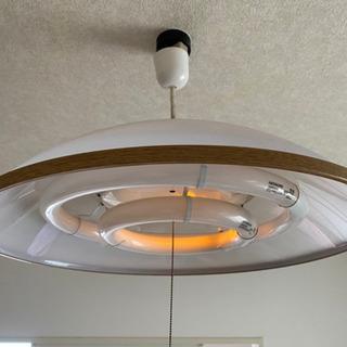 【取引完了】電気照明 傘タイプ シェード 蛍光灯付き【お譲りします】 - 松戸市