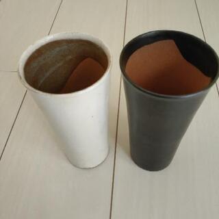 陶器のペアビールグラス