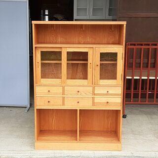 天然木 ずっしり重い かわいい食器棚 /DJ-0044-1F