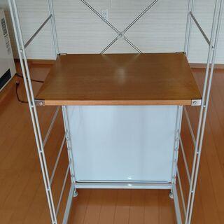 ユニットシェルフ 木製スチールシェルフ キッチン収納 リビング収...