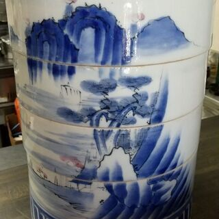 骨董 陶器四段お重