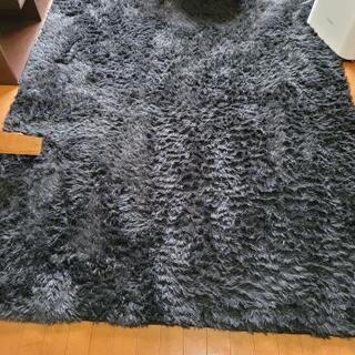 柔らかいラグカーペット(120x200) 黒