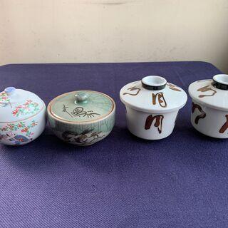 相馬半勝・錦松梅 他4点セット 茶碗蒸し器